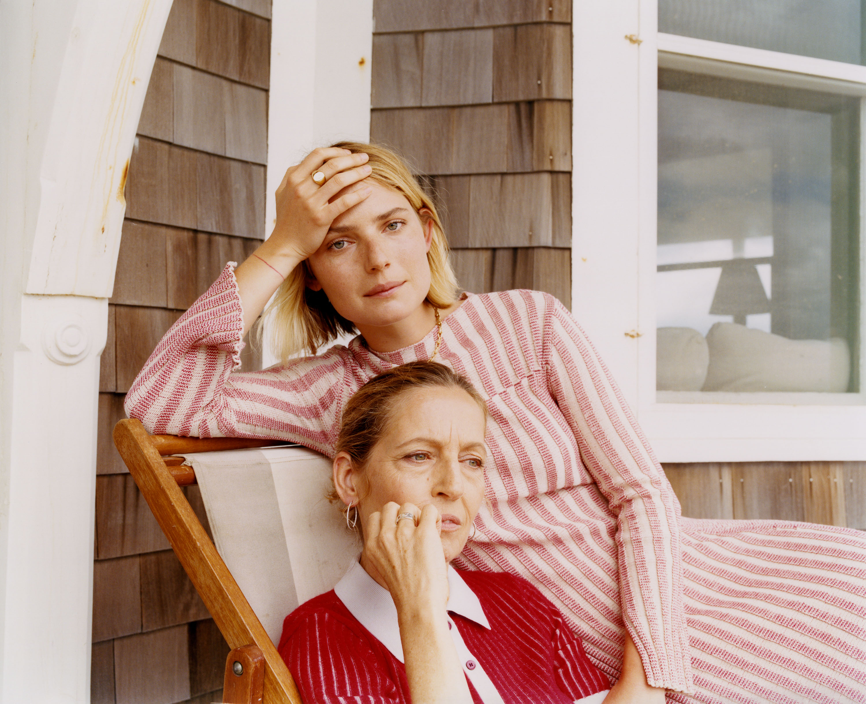 """I shot family portraits for *Tiffany & Co*. in a house constructed by shipbuilders in 1877, located at the top a dune in Wainscott in the Hamptons. I remember the """"beach shack"""" was for sale at the time, for 65 million dollars.* {Art Direction by Lilya Turki}* - © Maciek Pożoga"""
