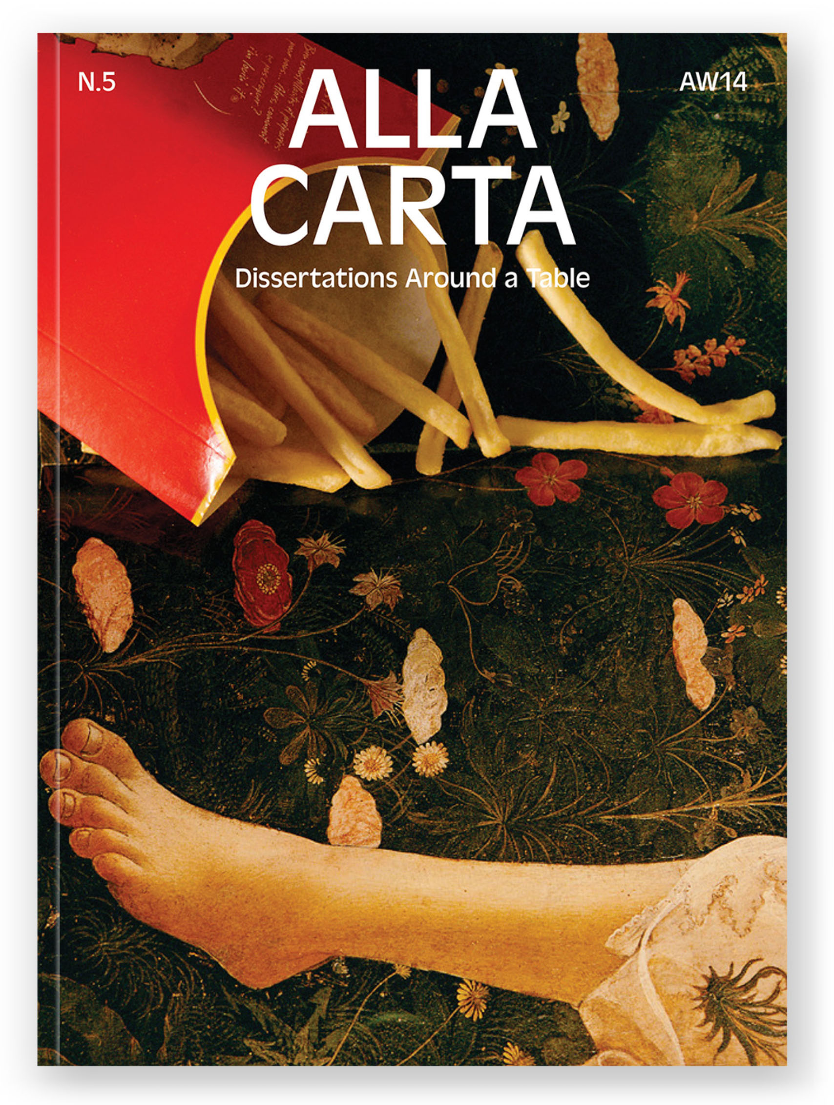 I shot this cover while eating French Fries on a Botticelli for *Alla Carta*'s AW14 issue. - © Maciek Pożoga