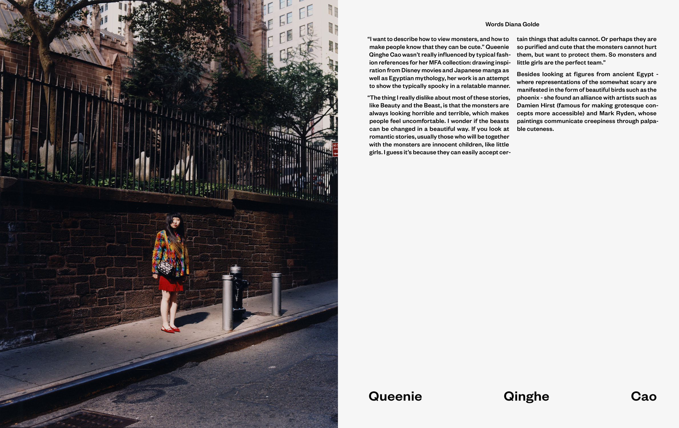 Editorial showcasing the work of graduating students at *Parsons School of Design* in New York. This shoot also marked the first time in my life that I went to New York. *{Styling by Sasha Kelly}* - © Maciek Pożoga
