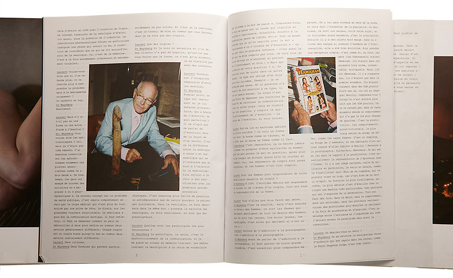 I was commissioned to shoot these portraits of sexologist Dr. Waynberg for *Double Magazine.* The wooden stick that he is holding in the second picture is an aphrodisiac root he brought back from Amazonia in the 1980s. - © Maciek Pożoga